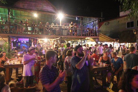 Otres Market: Watch live music from upstairs