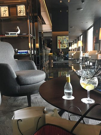 gran hotel domine bilbao photos are of roof terrace bar area and atrium and