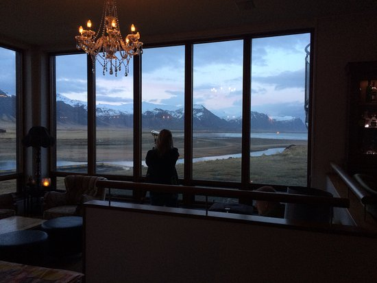 Budir, Iceland: The public lounge bar with those amazing windows and view.