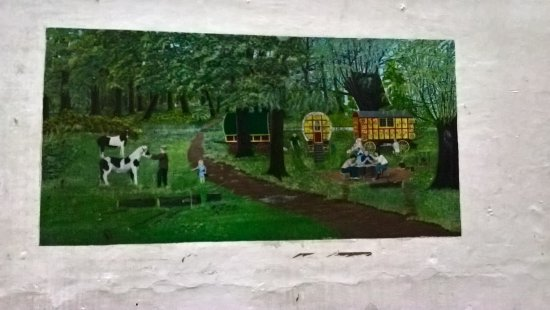 Shepton Mallet, UK: Another painting by the prisoner in A wing