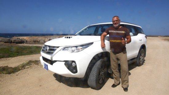 Savaneta, Aruba: Cerry and his brand new car June 2017