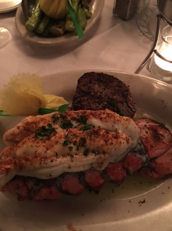 Folk's Folly Prime Steakhouse : Surf & Turf with clarified butter. Both cooked perfectly.