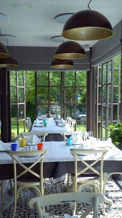 Momjan, Chorwacja: Restaurant/garden