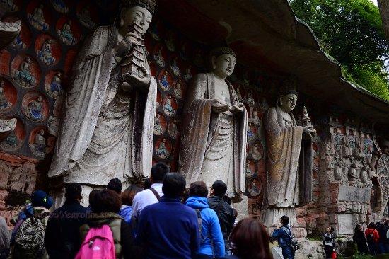 Dazu County, China: 非常大的佛像