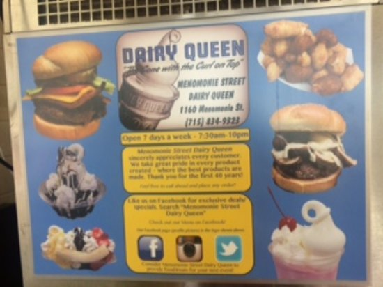 Eau Claire, WI: One of the retro posters at Menomonie Street DQ
