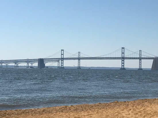 Sandy Point State Park Bay Bridge From