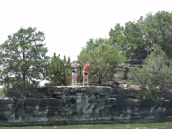 Branson, MO: Jumping off the cliffs.