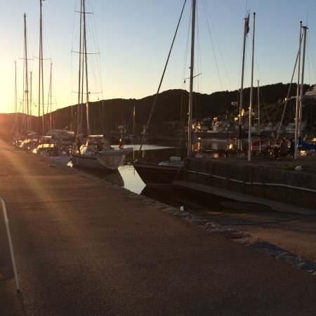 Molle, Швеция: Sunset in the harbour
