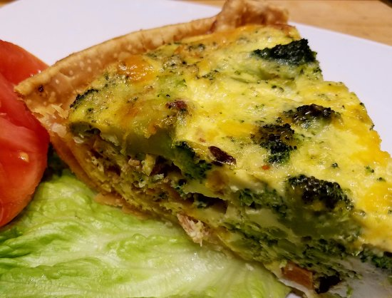 Guilford, CT: Broccoli quiche great for brunch.