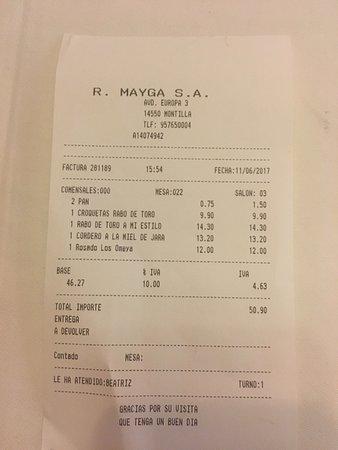 Montilla, Spanje: Buen restaurante