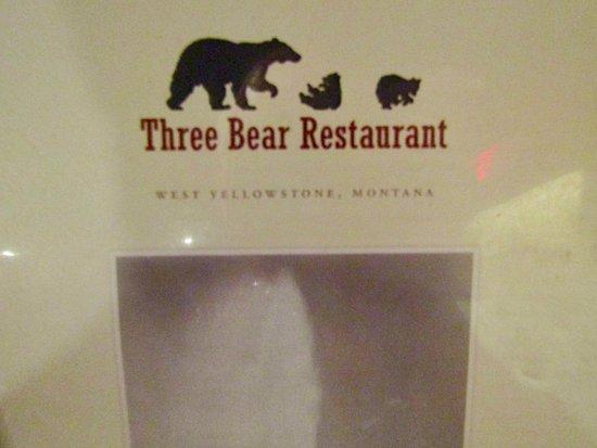 Three Bear Restaurant: Menu