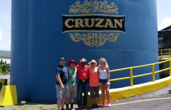 Christiansted, St. Croix: Testing the rum at the Cruzan Rum factory.