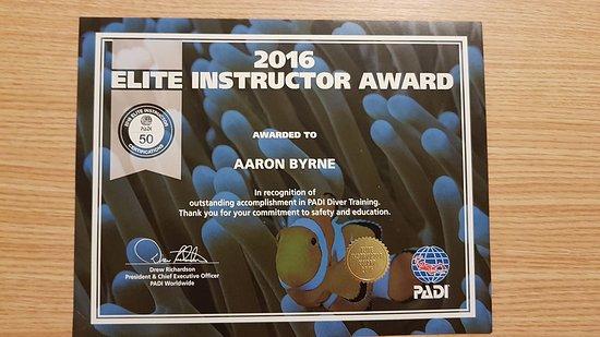 Castlegregory, Irlandia: PADI Elite Instructor Award - Aaron Byrne