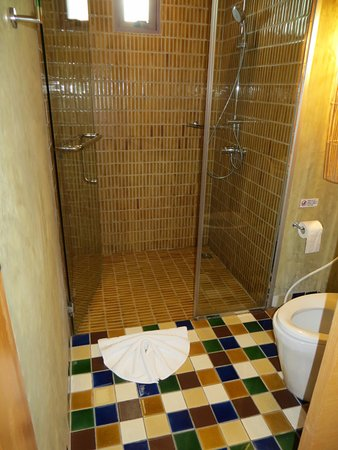 Shower stall and toilet - Picture of Prana Resort Nandana, Bophut ...