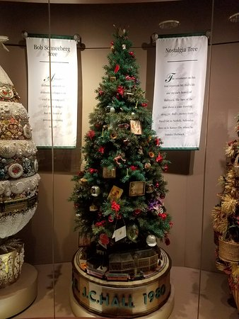 Christmas Tree Display - Picture of Hallmark Visitors Center ...