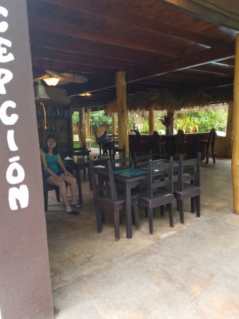 Cocles, Costa Rica: This is where breakfast is served.