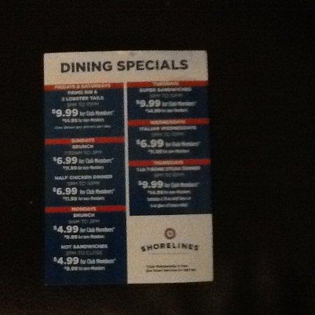Gananoque, Καναδάς: June dinners specials at casino.