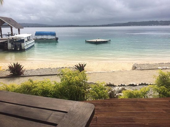 Aore Island Resort: This photo is taken from the main restaurant area on the deck.