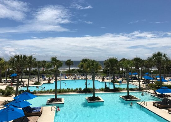 Myrtle Beach Marriott Resort & Spa at Grande Dunes: Outstanding view from outdoor patio on main level