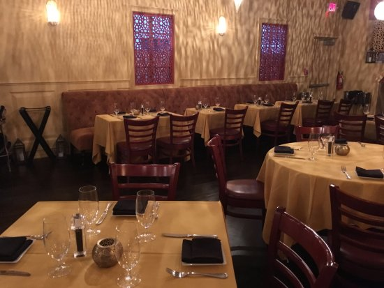 Main dining room picture of argana restaurant bar for Argana moroccan cuisine