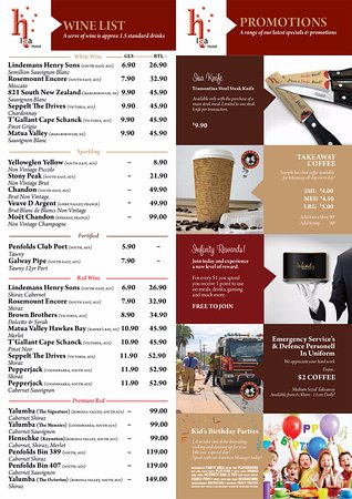 Mount Isa, Australia: Isa Hotel Rodeo Bar & Grill Menu 2017