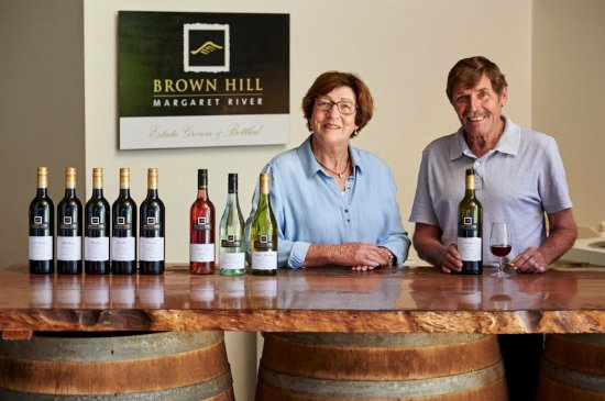 Rosa Brook, Australia: Gwen and Jim Bailey at the Cellar Door