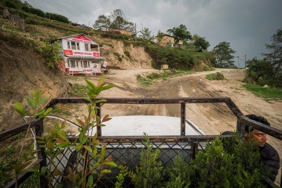 Nagarkot Buddha Peace Park Hiking Trail: on the way