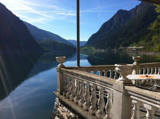 Le Prese, Schweiz: lakeside patio