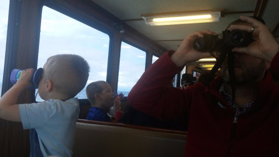 Port Townsend, WA: look out for whales. they have binoculars at each table. we brought the kid friendly pair.