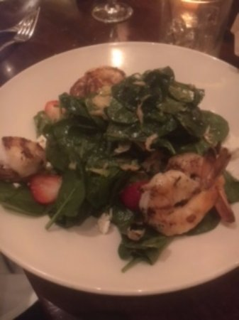 Westbury, NY: Spinach Salad with Grilled Shrimp