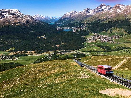 Samedan, Switzerland: Romantik Hotel, Panorama Restaurant, Muottas Muragl