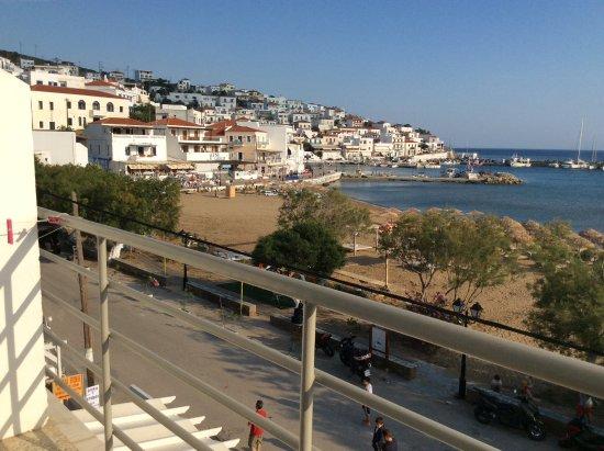 Hotel Chryssi Akti: Ausblick vom Balkon
