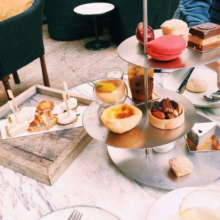 Afternoon tea set: Egg tart, nuts tart, mini muffin, creme brulee, etc.