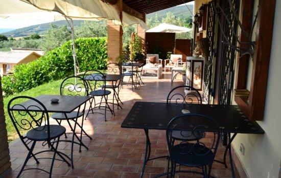 Montecchio, Italy: colazioni nel patio