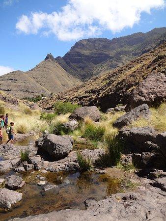 Agaete, สเปน: Kleine Wasserstellen im Tal