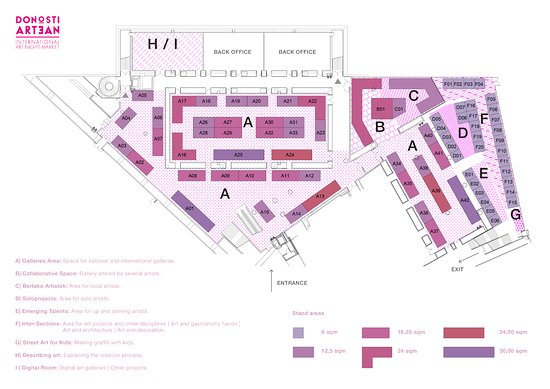 AREAS 3.500sqm - Picture of Donostiartean International Art Night ...