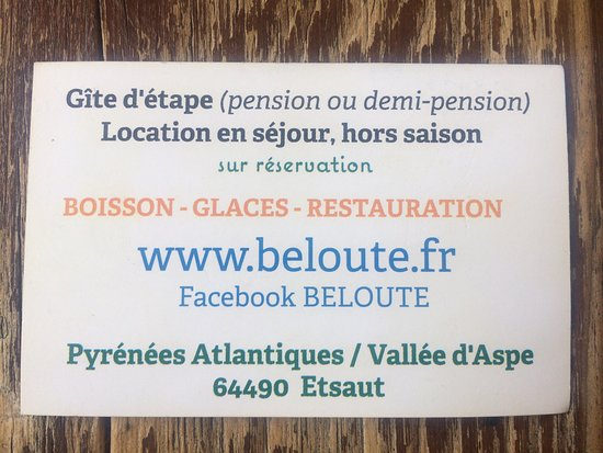 Business card picked up in june 2017 picture of beloute cafe beloute cafe business card picked up in june 2017 colourmoves