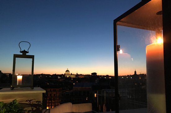 Sunset Picture Of Terrazza Borromini Rome Tripadvisor