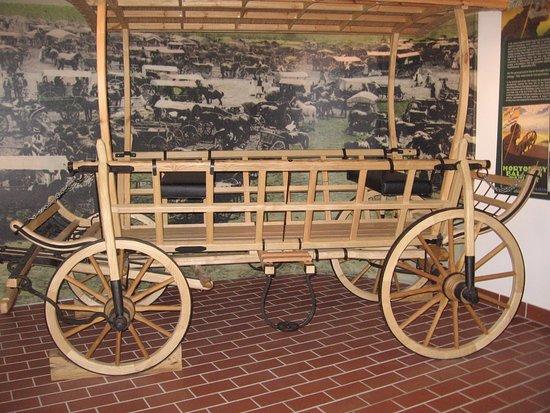 Hortobagy, Hongaria: ein für hier typischer, fein restaurierter Wagen
