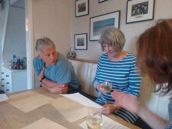 The Old Quay Inn, Devoran. Simon & Viv choosing
