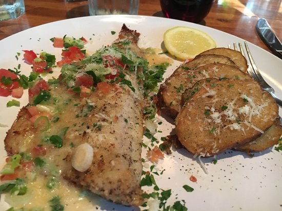 Richmond, IL: Mediterranean Sea Bass with roasted potatoes