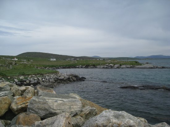 North Uist, UK: View from breakfast table