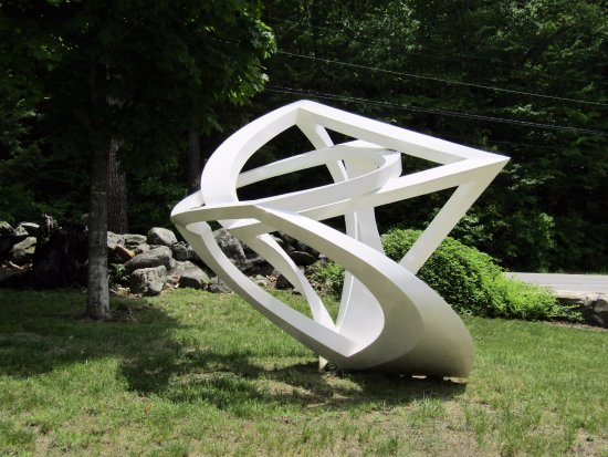Newbury, NH: One of the sculptures
