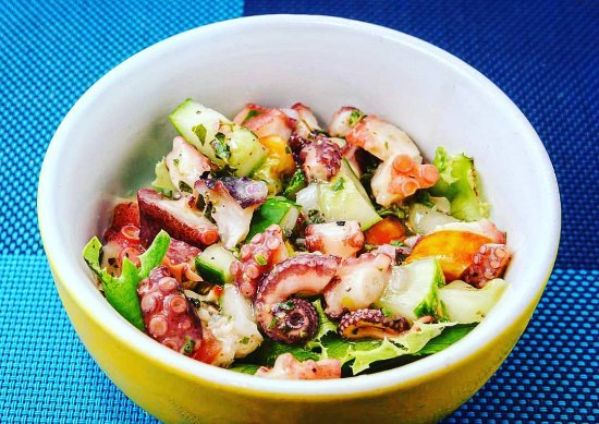Holetown, Barbados: Seacat (octopus) ceviche