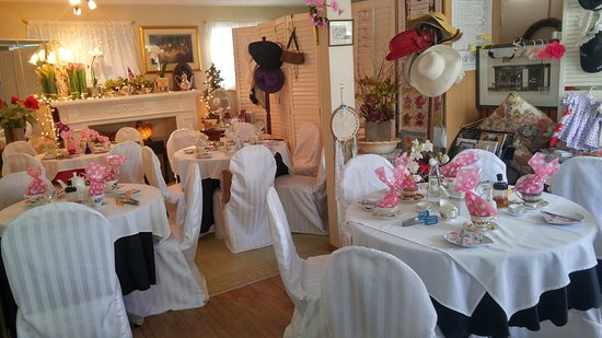 Tea Room All Dressed And Ready For A Baby Shower Private Reservation