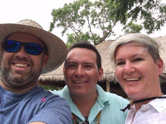 San Gervasio Mayan Archaeological Site: Our guide, Patricio.