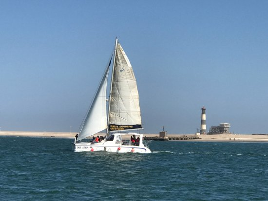 Walvis Bay, Namibia: Que Sera - our sailing catamaran