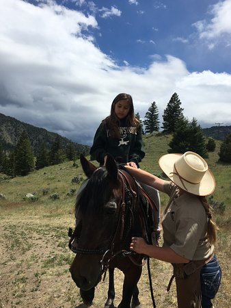 Emigrant, MT: Cheyenne made our first time experience of horseback riding amazing!