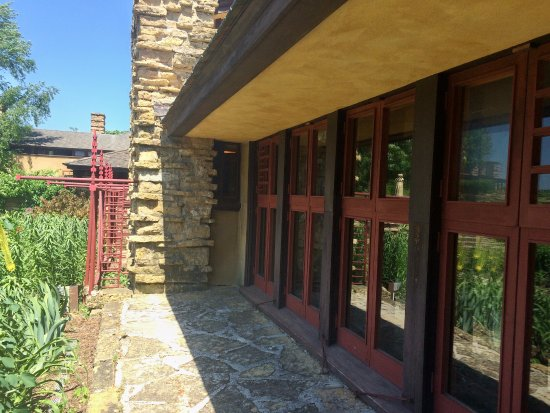 Taliesin Preservation: Typical FLW red and stone