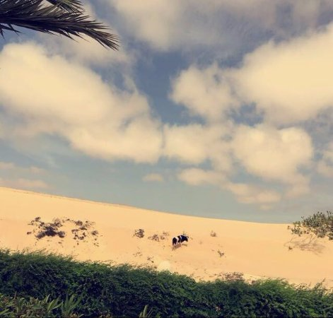 Clubhotel Riu Karamboa : Sand dune opposite the entrance to the hotel